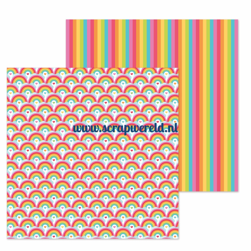 "Rainbows End Double Sided 12x12"" Cardstock"