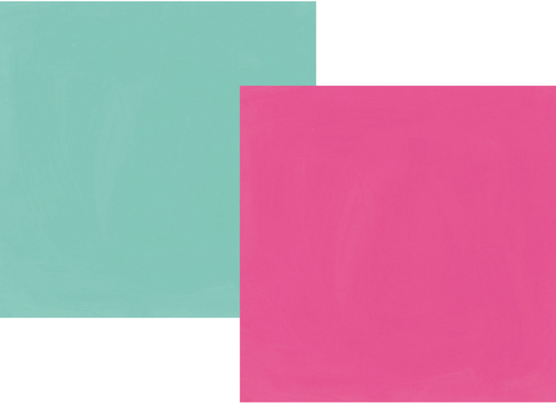"""Oh, Happy Day! Fuchsia/Turquoise Double Sided 12x12"""""""