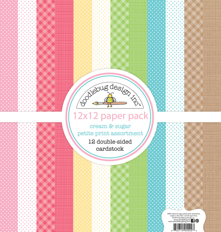 Cream & Sugar Petite Prints 12x12 Paperpack