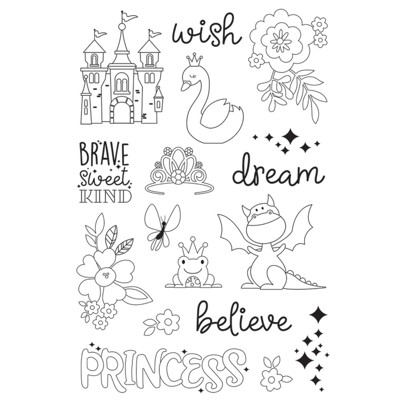 Little Princess Make a Wish 4x6 Stamps