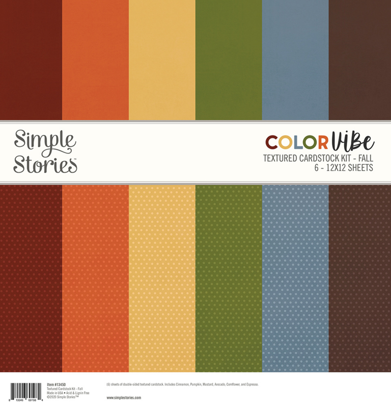 Color Vibe Textured Cardstock Kit - Fall