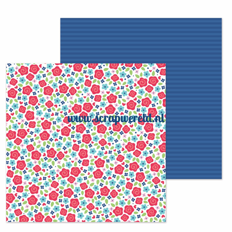 """Just Rosey Double Sided 12x12"""" Cardstock"""