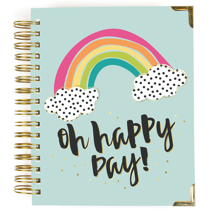 2019-2020 Oh, Happy Day! 17 Month Weekly Spiral Planner