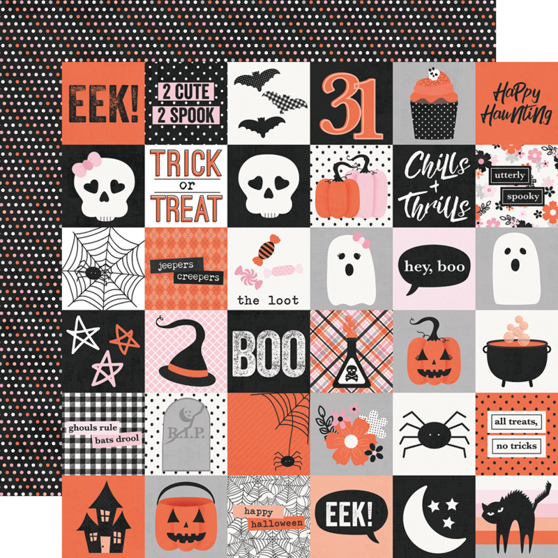 Happy Haunting 2x2 Elements Double Sided 12x12""