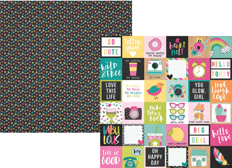 """Oh, Happy Day! 2x2 Elements Double Sided 12x12"""""""