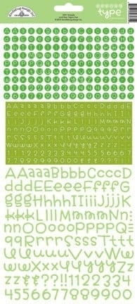 Teensy Type Cardstock Stickers Limeade