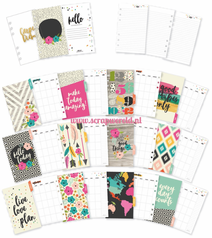 Personal Good Vibes Monthly Planner inserts