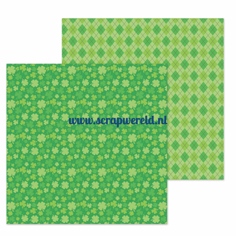 "Lots o' Luck Double Sided 12x12"" Cardstock"