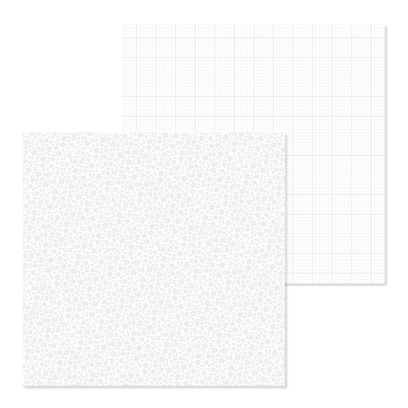 Floral-Graph Petite Prints Cardstock Lily White