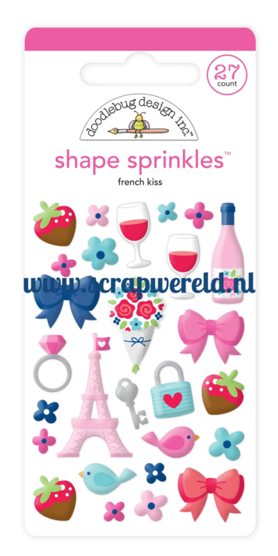 French Kiss Shape Sprinkles