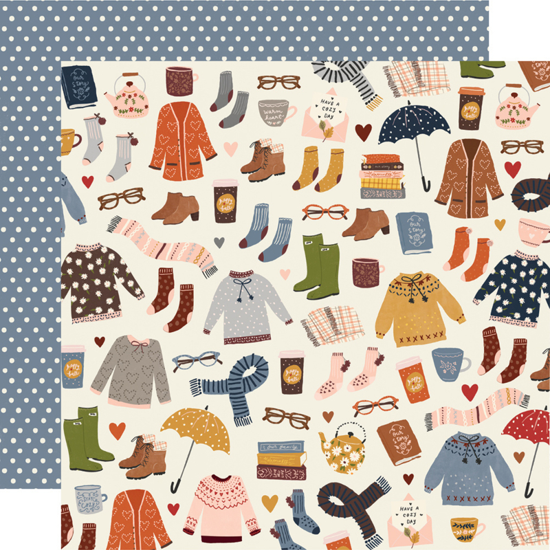 Cozy Days Sweaters & Boots Double Sided 12x12""