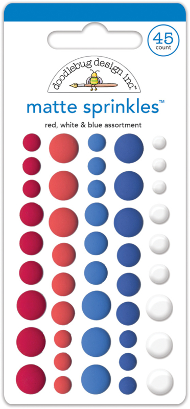 Red, White & Blue Assortment Matte Sprinkles