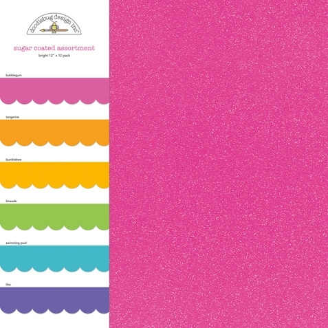 "Glitter Cardstock 12""x12""  Assorti Pack Bright"