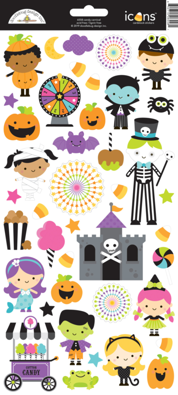 Candy Carnival Icons Stickers