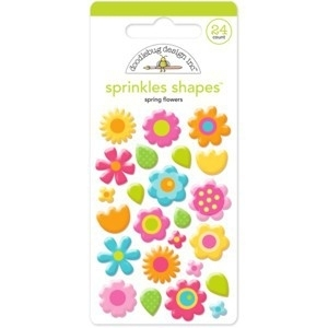 Spring Flowers Sprinkles Shape