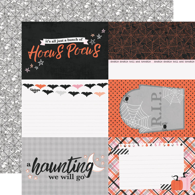 Happy Haunting 4x6 Elements Double Sided 12x12""