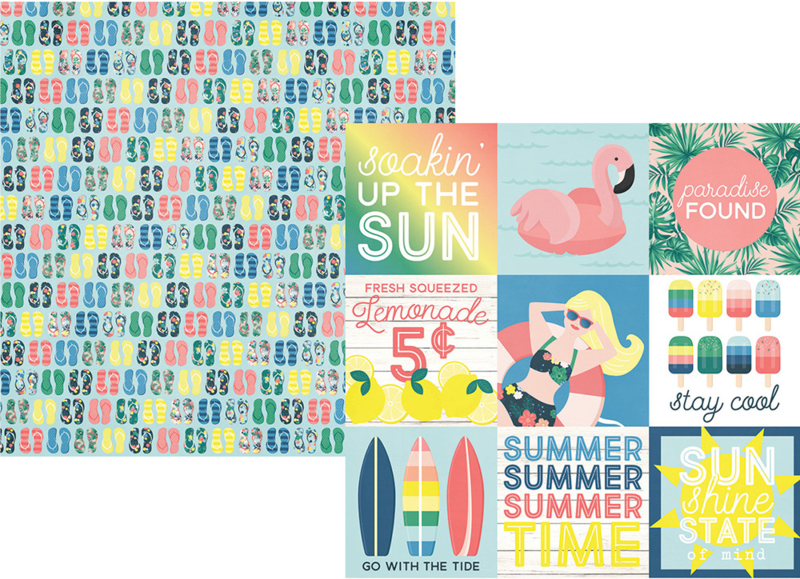 """Sunshine and Blue Skies 4x4 Elements Double Sided 12x12"""""""
