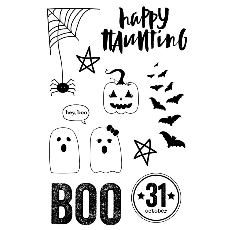 Happy Haunting 4x6 Stamps