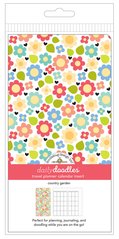 Country Garden Daily Doodles Travel Planner Inserts