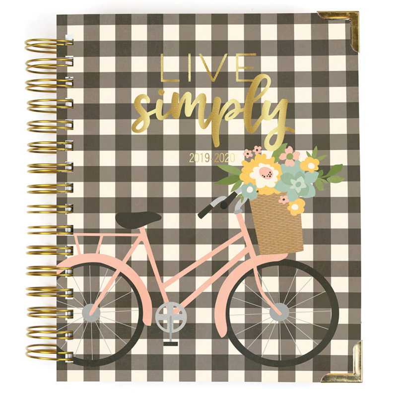 2019-2020 Live Simply 17 Month Weekly Spiral Planner