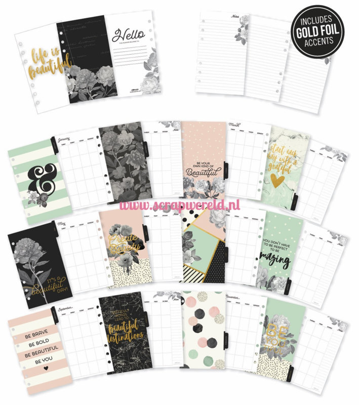 Personal Beautiful Monthly Planner inserts