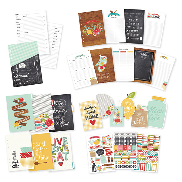 Carpe Diem Recipe A5 Planner Inserts Set