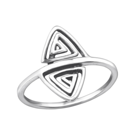 925 STERLING ZILVEREN RING - TRIANGLE