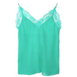 LACE TOP GROEN - S/M