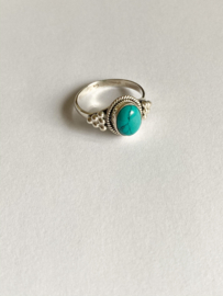 925 STERLING ZILVEREN RING - TURQUOISE