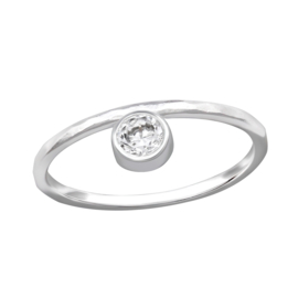 925 STERLING ZILVEREN RING - DIAMOND