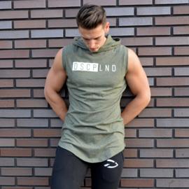 Sleeveless Hooded Shirt | Olive
