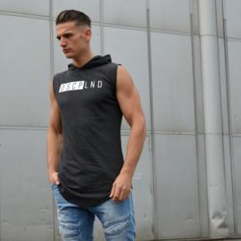 Sleeveless Hooded Shirt | Black