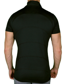 Zipped Perform Tee | Black