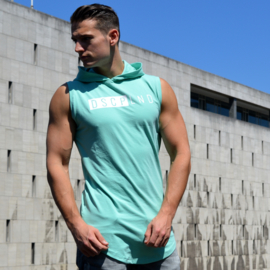 Sleeveless Hooded Shirt | Aqua