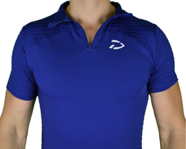 Zipped Perform Tee | Royal Blue