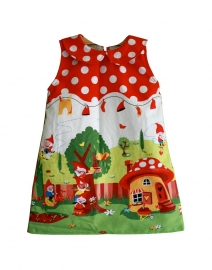 Dress with peter pan collar  - Size 4Y - 11Y