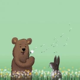 Finch Fabrics - Dandelion Bears