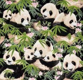 Elizabeth's Studio - Panda Bears Black