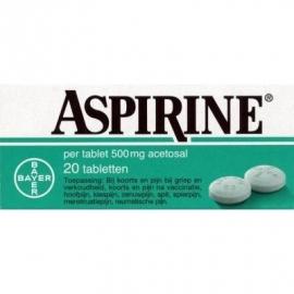 Bayer aspirine 500 mg 20 stuks