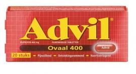 Advil ovaal 400 mg 20 stuks