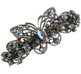 Patentspeld 9cm, filigrain vlinder met stenen