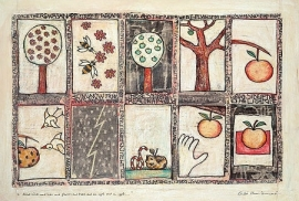 About birds and bees and flowers and trees and an apple...