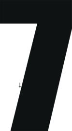 """Cijfer voor huisnummer of Kliko , hoogte 10 cm, """"vetgedrukt"""" cijfertype"""