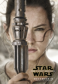 Poster, Star Wars The Force Awakens Rey