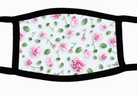 Sublimatie mondkapje met rozen print, in 3 maten