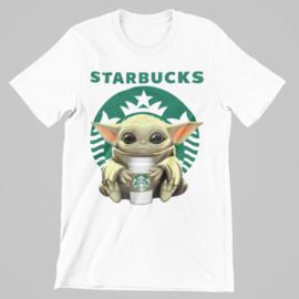 T-shirt wit baby yoga hug Starbucks
