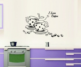 Muursticker I Love Coffee