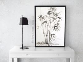 Poster Bamboe zwart/wit