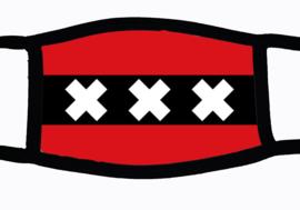 Sublimatie mondkapje met vlag Amsterdamse