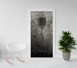 Deurposter - deursticker Celdeur - gevangenisdeur met slot
